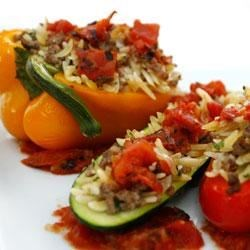 Photo of Italian Orzo Stuffed Peppers by DeLallo Foods