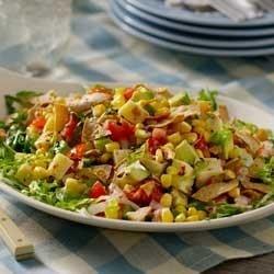 Avocado-Corn Salad with Creamy Salsa Dressing Recipe