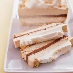 Chocolate and Peanut Butter Ribbon Dessert