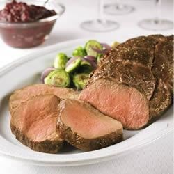 Beef Tenderloin With Easy Cranberry Balsamic Sauce Recipe
