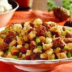 Sausage and Cranberry Stuffing Recipe