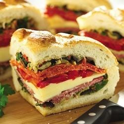 Photo of Italian Stuffed Sandwich Wedges by Crisco® Pure Olive Oil