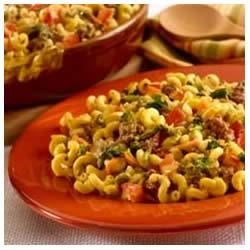 Cheeseburger Pasta 'n Vegetables Dinner Recipe