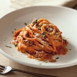 spaghetti a la philly printer friendly