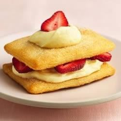 Crescent Napoleons with Strawberries