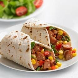 Photo of Johnsonville® Chipotle and Monterey Jack Cheese Chicken Sausage Wraps by The Kitchen at Johnsonville Sausage