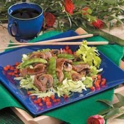 Photo of Stir-Fried Beef on Lettuce by Ninez  McConnell