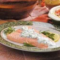 Photo of Grilled Salmon with Creamy Tarragon Sauce by Joyce  Turley