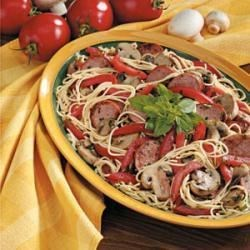 Photo of Smoked Sausage with Pasta by Ruth Ann Ruddell