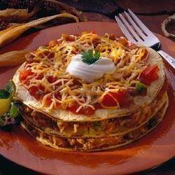 Chili Tortilla Stacks Recipe