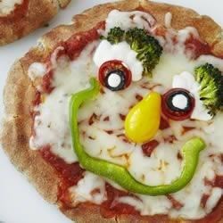 Veggie Pizza Faces Recipe
