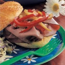 Photo of Pepper-Topped Beef Sandwiches by Leota  Recknor