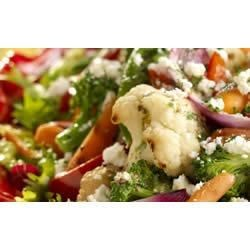 Grilled Vegetable Salad with Mustard Herb Dressing Recipe