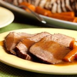 Photo of Perfect BBQ Beef Gravy and Pot Roast by Campbell's Kitchen