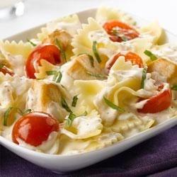 Photo of Creamy Chicken-Bruschetta Pasta by Philadelphia Cooking Creme