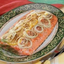 Photo of Salmon with Creamy Dill Sauce by Susan  Emery