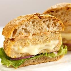 Cheese-Stuffed Turkey Burgers Recipe