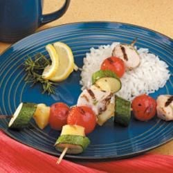 Photo of Honey Rosemary  Chicken Kabobs by Elisabeth Corcimiglia