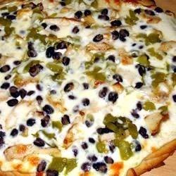 Creamy Black and White Pizza Recipe