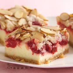 Photo of Almond Streusel-Cherry Cheesecake Bars by Betty Crocker®