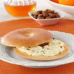 Photo of Sweet Almond Orange Cream Cheese by Thomas' Bagel Thins