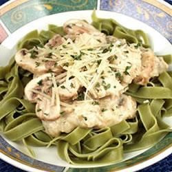Salmon With Green Fettuccine Recipe