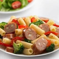 Johnsonville(R) Three Cheese Italian Style Chicken Sausage and Broccoli Rigatoni Recipe