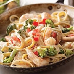 Shrimp and Broccoli Fettuccine Recipe