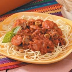 Photo of Two-Meat Spaghetti Sauce by Candi Johnsen