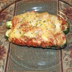 Sausage and Cheese Stuffed Zucchini Recipe