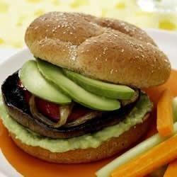 Portabella Burgers with Avocado Spread Recipe