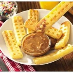 Photo of Waffle Sticks with Peanut-Cinnamon Syrup by Jif®