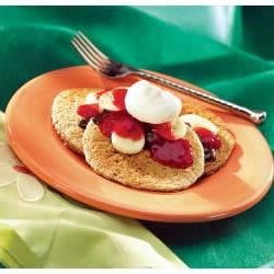 Banana Split Oat Bran Pancakes Recipe