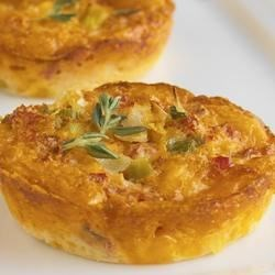 Crustless Cheddar and Sun-Dried Tomato Mini Quiches Recipe