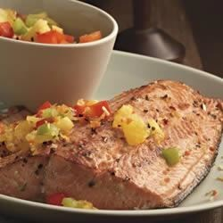 Baked Salmon with Pineapple Salsa Recipe