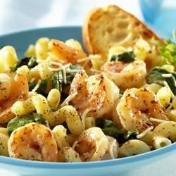 Lemon Pepper Pasta with Shrimp Recipe