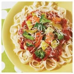 Easy Fettuccine Primavera Recipe