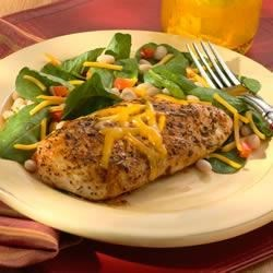 Rosemary Chicken on Navy Bean, Cheddar and Arugula Salad Recipe