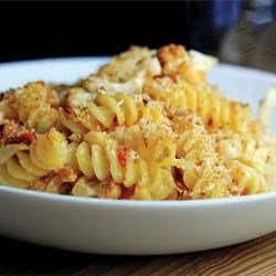 Baked Melt Mac N Cheese and Roasted Cauliflower Recipe