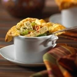 Individual Chik'n Pot Pies with Puff Pastry Recipe