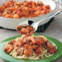 Photo of Tomato 'n' Shrimp Pasta by Taste of Home Test Kitchen