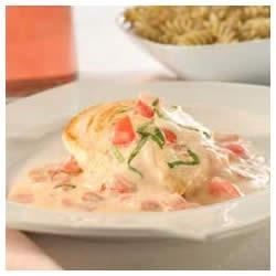 Chicken Alfredo with Plum Tomatoes Recipe