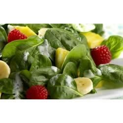 Fresh Fruit Salad with Baby Spinach and Yogurt-Poppy Seed Dressing Recipe