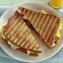 Scrambled Eggs, Bacon and Tomato Panini Recipe