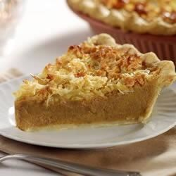 Pumpkin Sweet Potato Coconut Pie