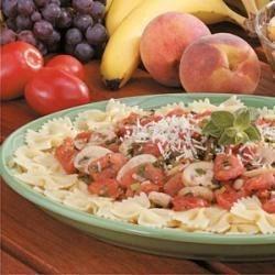 Photo of Tomato-Mushroom Bow Tie Pasta by Jacqueline  Graves