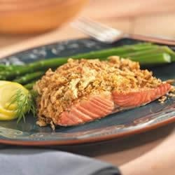 Crunchy Lemon-Dill Salmon Recipe