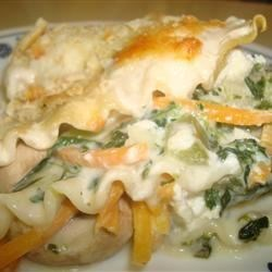 Spinach Lasagna with White Sauce