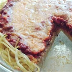 Beef and Spaghetti Pie  Recipe