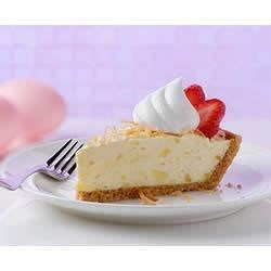 Strawberry Pina Colada Pie